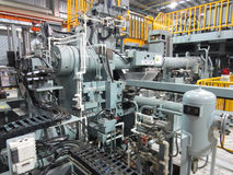 Extrusion aluminium machine Royalty Free Stock Photo