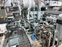 Extrusion aluminium machine Royalty Free Stock Image