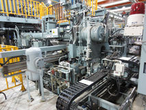 Extrusion aluminium machine Stock Photos