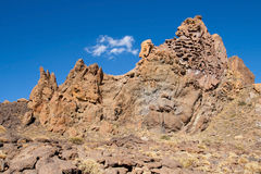 Extrusive rock formation Royalty Free Stock Image