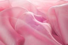 exture, fond, modèle Rose de tissu en soie, soie bien aérée mince fa Image stock