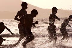Exubérance de plage Photographie stock libre de droits