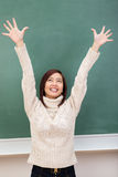 Exuberant attractive young student rejoicing Stock Photo