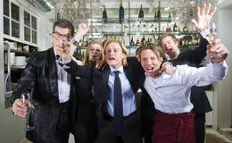 Exuberant Cheering Royalty Free Stock Photo