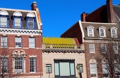 Exuberant Colors of Older Buildings in Washington DC stock photos