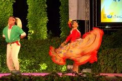 Exuberant latino couple dance Royalty Free Stock Photography