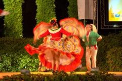 Exuberant latino couple dance Stock Image