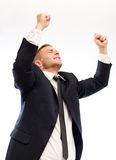 Exuberant young businessman. Stock Photography