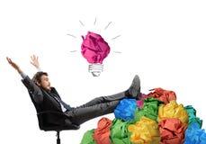 Exult for idea Stock Photo