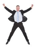 Exultant businessman cheering Stock Photography