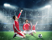 Exultation of a football players Stock Images