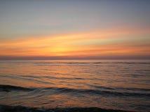Exulting la puesta del sol Fotografía de archivo