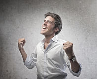 Exulting Man Royalty Free Stock Photo