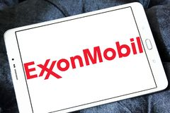 Exxonmobil oil company logo Royalty Free Stock Photo