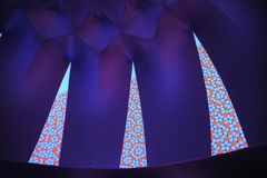 Exxopolis Penrose Tiling. Detail of the interior in the temporary inflatable installation in Los Angeles Royalty Free Stock Photos