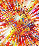 Exxplosion. Illustration, design mad with a fractal software Stock Photography