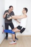 Exzentrischer Oberschenkelmuskel Stockbild