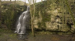 Eyam's secret Waterfall Royalty Free Stock Image