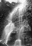 Eyam's secret Waterfall Monochrome Stock Photos