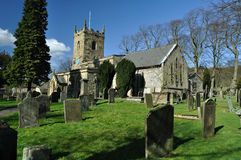 Eyam village church and graveyard Royalty Free Stock Photos
