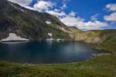 Eye湖,七个Rila湖,保加利亚的风景 免版税库存照片