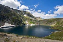 Eye湖,七个Rila湖, Rila山 免版税库存图片