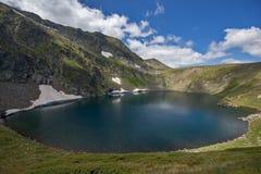 Eye湖,七个Rila湖, Rila山 免版税图库摄影