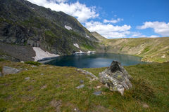 Eye湖,七个Rila湖, Rila山 库存照片