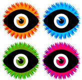 Eye ícones Imagem de Stock