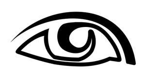 Eye. Style  black on white Royalty Free Stock Photo
