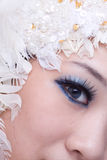 Eye. The beautiful chinese girl's eye royalty free stock photos