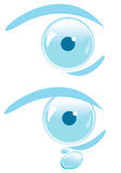 Eye. Vector, symbol of blue eye Stock Photos