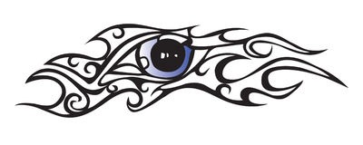 Eye. There is a tattoo eye with pattern Royalty Free Stock Photo