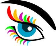 Eye. Isolated eye line art work Royalty Free Illustration