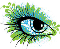 Eye. Vector eye of the person multicoloured Royalty Free Stock Photography