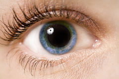 Eye. A young woman's eye - close up Stock Images