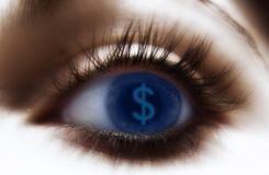 Eye $ stock illustration