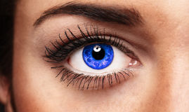 The Eye. Details of beauty. Blue eye Stock Photography