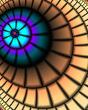 The eye. Abstract fractal image resembling an eye Royalty Free Stock Images