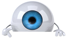 Eye. Concept, 3d generated illustration Royalty Free Stock Photos