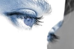 Eye. An image of expressive blue woman's eyes Stock Photography