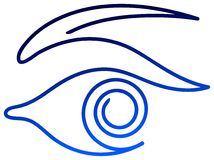 Eye. Isolated illustrated eye brush stroke design Royalty Free Stock Photos