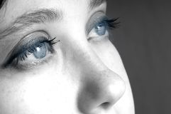 Eye. An image of expressive blue woman's eyes Royalty Free Stock Image