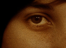 Eye. Of a girl Stock Photography