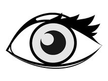 Eye. Vector illustration of eye. Design style royalty free illustration