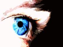 Eye. Blue eye on black background Royalty Free Stock Photography