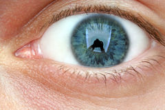 Eye. Extreme close-up of a green eye Stock Photo