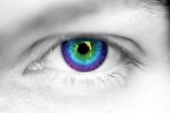 Eye. Beautiful women eyes with colorful effects Royalty Free Stock Photos