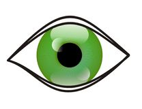Eye. Illustration of green eye ideal for a logo Royalty Free Stock Photography