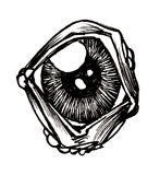 Eye. A black and white ink drawing of an eye Stock Photo